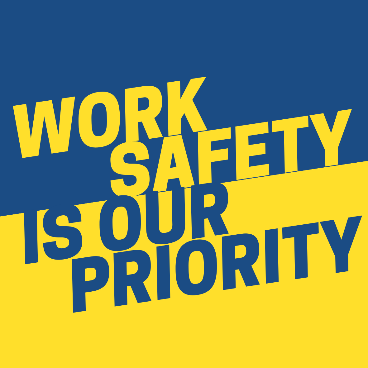 Yellow and Black Work Safety is Our Priority Circle Sticker